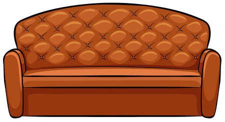 single seat: Large brown sofa with luxury design