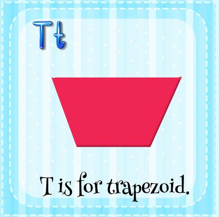 trapezoid: Carta Flashcard T es de trapecio