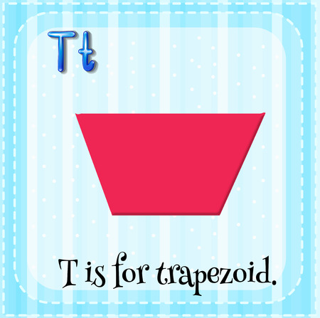 trapezoid: Flashcard letter T is for trapezoid Illustration