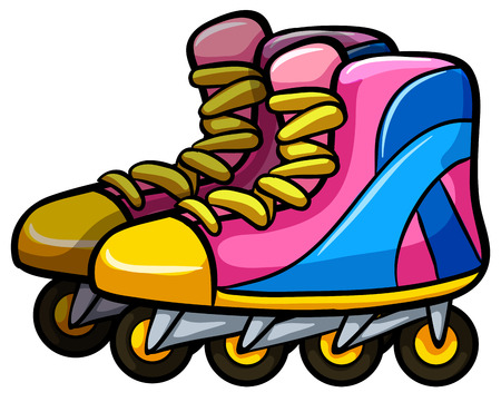 rollerskates: Pair of rollerskates with four wheels
