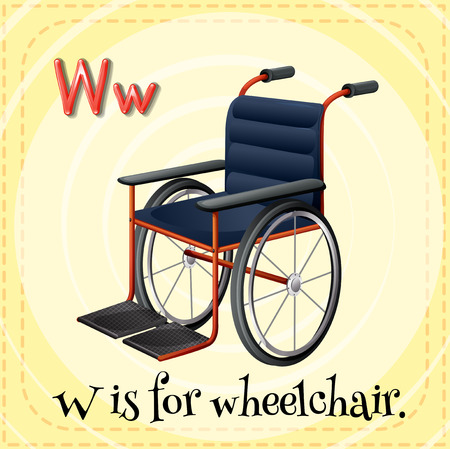 writing chair: Letter W is for wheelchair