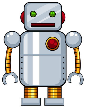remote control: Close up tin toy robot