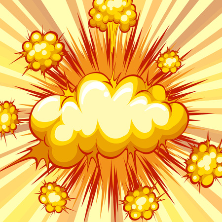 explosion: Cloud explosion with writing space Illustration