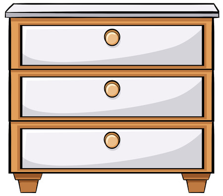 chest of drawers: Close up plain wooden drawers