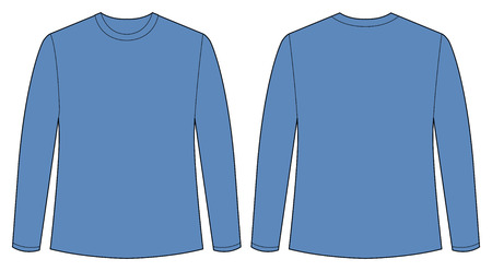 long sleeves: Front and back view of t shirt
