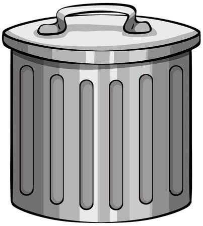 tin: Close up tin trashcan with lid