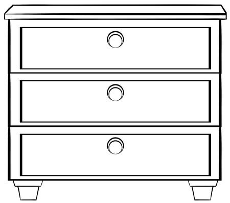 drawers: Close up plain wooden drawers