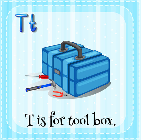 tool box: Letter T is for tool box