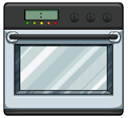 クローズ アップ現代電子オーブン