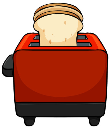 Close up toaster with bread toasted