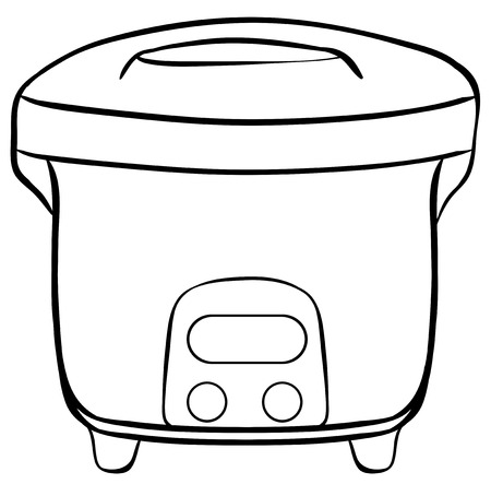 Close up electric rice cooker Vector