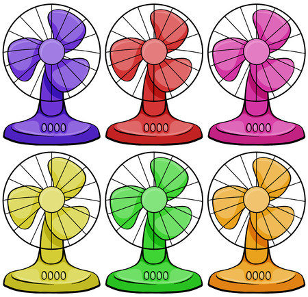electric fan: Six different colors electric fan