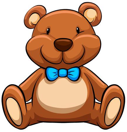 Cierre de oso de peluche marrón