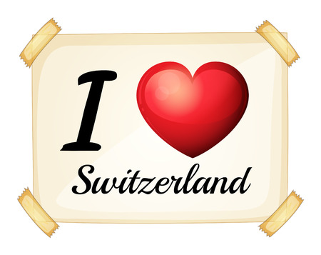 posted: Poster I love Switzerland on the wall