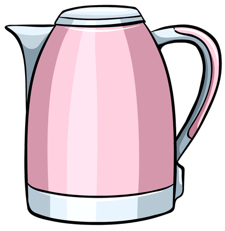 boiler: Close up pink water boiler Illustration