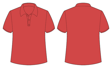 red shirt: Front and back view of red shirt Illustration