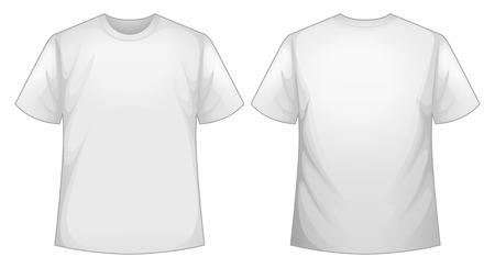 흰색 셔츠의 앞면과 뒷면보기