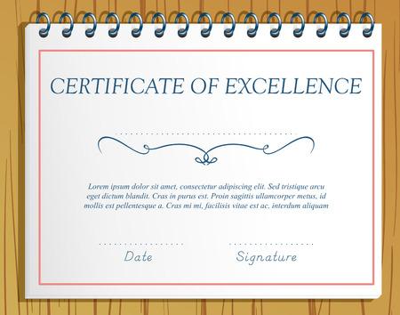 kiválóság: Certificate of Excellence sablontól