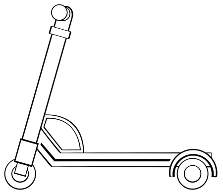 rollers: Close up scooter with handle bar
