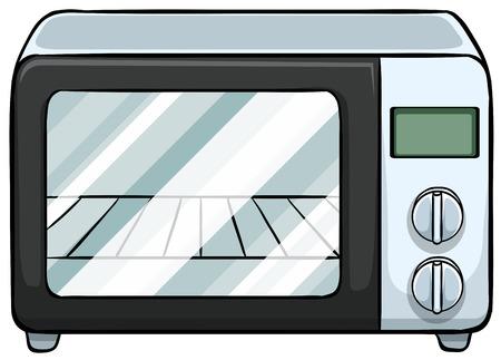 電子レンジを閉じる  イラスト・ベクター素材