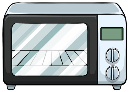 Close up electronic microwave oven