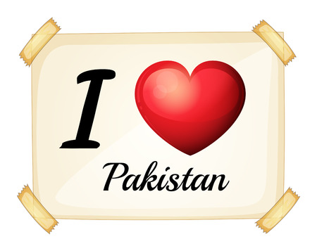 posted: Poster I love Pakistan posted on the wall