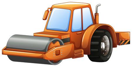 steam roller: Close up construction steam roller