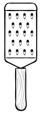 shredder: Close up hand cheese shredder