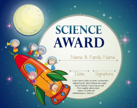 talented: Certificate of excellence template design for science