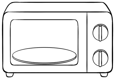 microwave oven: Close up microwave oven with tray