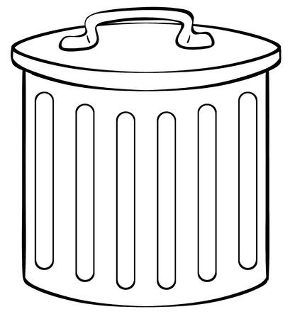 tin: Close up tin trashcan with lid on