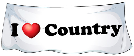 posted: I love country banner on the wall