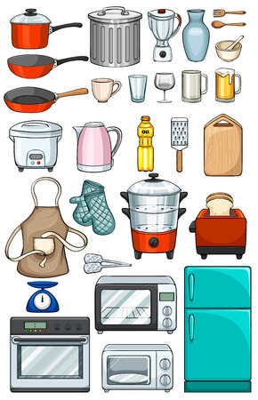 Different kind of kitchen objects