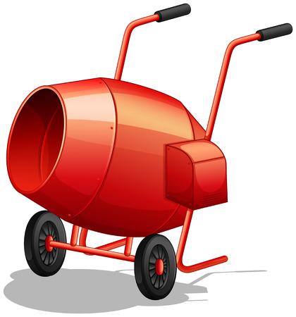 constructing: Close up classic cement mixer