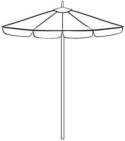 ombrellone spiaggia: Close up design semplice di ombrellone