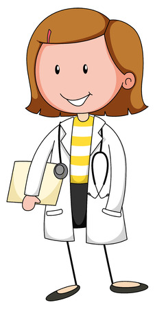 Female doctor in uniform with stethoscope