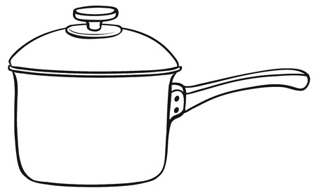 stainless steel pot: Close up one cooking pot with lid
