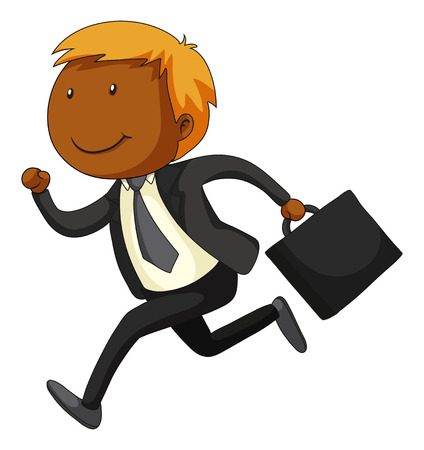 grown up: Close up businessman in suit running Illustration