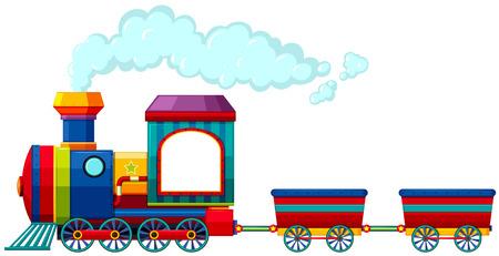 tren caricatura: Viaje en tren Individual con ningún pasajero Vectores