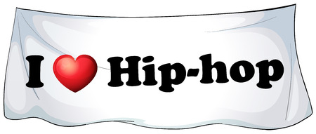 hiphop: I love hiphop banner on the wall
