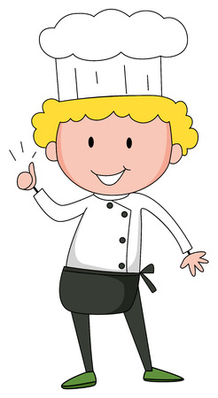 grown up: Male chef in uniform with a hat