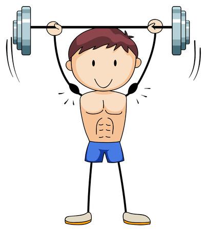 man close up: Close up man doing weightlifting