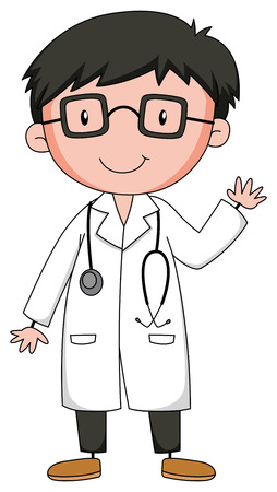 kid doctor: Close up doctor in uniform