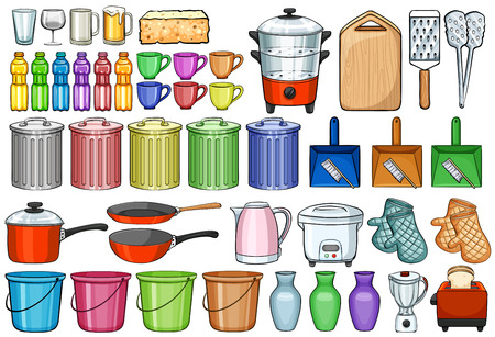 Different kind of home appliances Vector