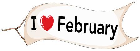 I love February banner flying