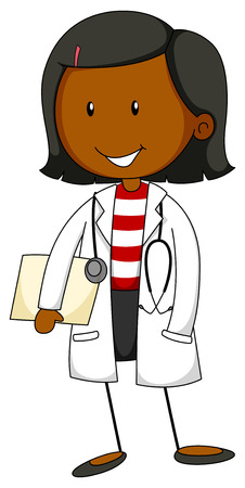 Female doctor in uniform with a stethoscope