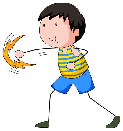 alone: Closeup boy punching something alone Illustration