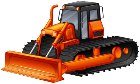 destroyer: Close up modern design of bulldozer Illustration