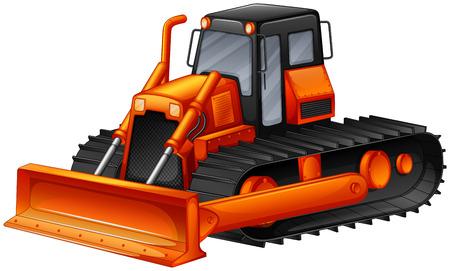 Close up modern design of bulldozer Illustration