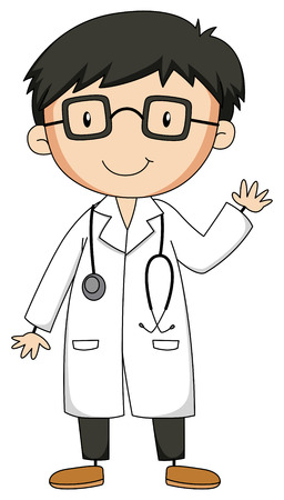 Close up doctor with stethoscope Illustration